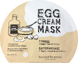 too cool for school Tuchmaske EGG Cream Mask Firming