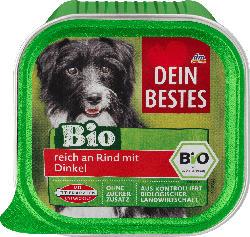 Dein Bestes Nassfutter für Hunde, Bio reich an Rind mit Dinkel