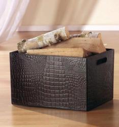 Fink Living Zeitungsbox Holzbox Maroon
