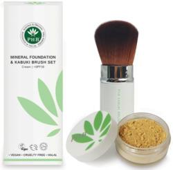 Loose Mineral Foundation & Kabuki Brush Set - Cinnamon