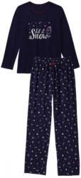Damen-Schlafanzug mit Weihnachtsmuster, 2-teilig