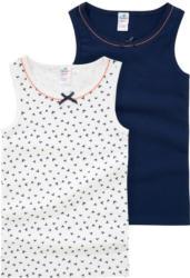 2 Mädchen Unterhemden mit Herz-Print