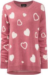 Damen Pullover mit Herz-Motiven