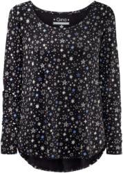 Damen Langarmshirt im Sternen-Design