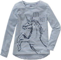 Mädchen Langarmshirt mit Einhorn-Motiv