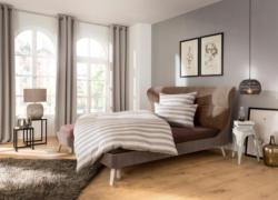 Places of Style Polsterbett »Keo« bezogen mit Strukturstoff im tollen Farbmix