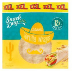 SNACK DAY Tortilla Wraps 12x 25 cm