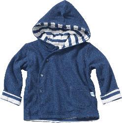 ALANA Baby-Jacke mit Kapuze gefüttert, Gr. 68, in Bio-Baumwolle, blau, für Mädchen und Jungen
