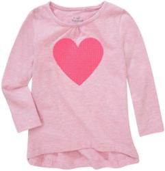 Mädchen Langarmshirt mit Herz-Print