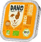 DANO Nassfutter für Hunde, Bio Pastete mit Huhn