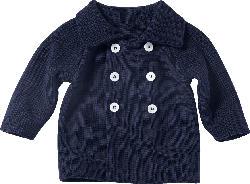 ALANA Baby-Strickjacke, Gr. 74, in Bio-Baumwolle, blau, für Mädchen und Jungen