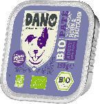 DANO Nassfutter für Hunde, Bio Pastete mit Huhn und Truthahn