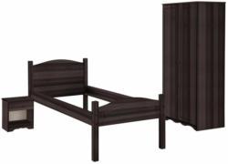 Home affaire 3-teiliges Schlafzimmer-Set »Emden«, Bett 90/200, Nachtkonsole und 2-trg. Kleiderschrank
