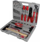 Möbelix Werkzeugset Hugo, 100-teilig Braun, Grau, Rot