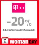 T-Mobile Shop -20% Rabatt auf die monatliche Grundgebühr - bis 07.04.2016