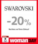 Swarovski -20% Nachlass auf Ihren Einkauf - bis 07.04.2016