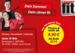clever fit Fitness & mehr ab € 9,90! - bis 15.09.2017