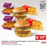 Mc Donald's 2x Big Mac + 2x 6er Chicken McNuggets + 2x große Pommes - bis 09.10.2016