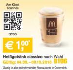 Mc Donald's Heißgetränk classico nach Wahl - bis 09.10.2016