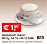 McDonald's Cappuccino regular - bis 09.10.2016