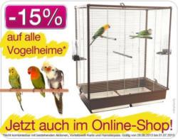 Cats&Pets: Weekend-Aktion: -15% auf alle Vogelheime