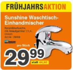 Sunshine Waschtisch-Einhandmischer