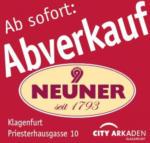 Neuner Ab sofort: Abverkauf - bis 24.07.2015