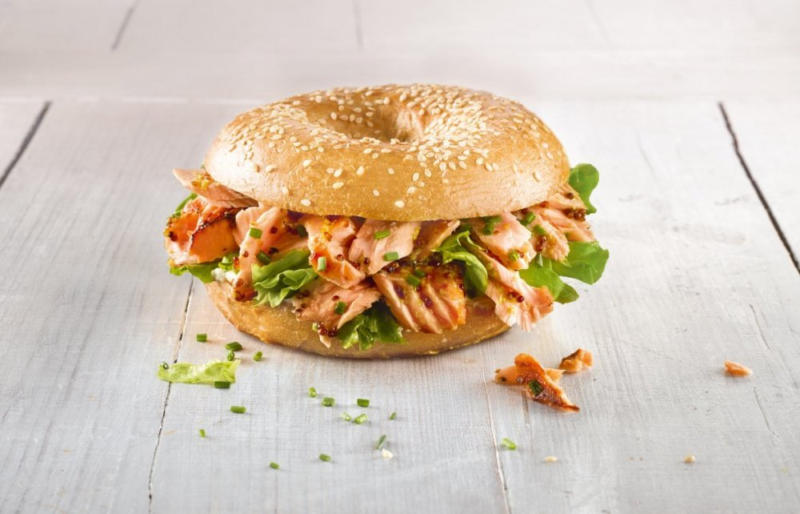 Pulled Lachs-Bagel