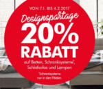 Interio Wohngalerie Plus City Designerspartage: -20% auf Betten, Schranksysteme*, Schlafsofas und Lampen - bis 04.02.2017