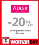 Adler -20% auf den gesamten Einkauf Alles passt - bis 07.04.2016