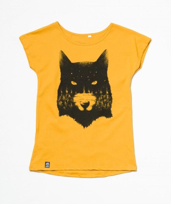Lea Wolf BIO T-Shirt mit lockerem Rundhalsausschnitt