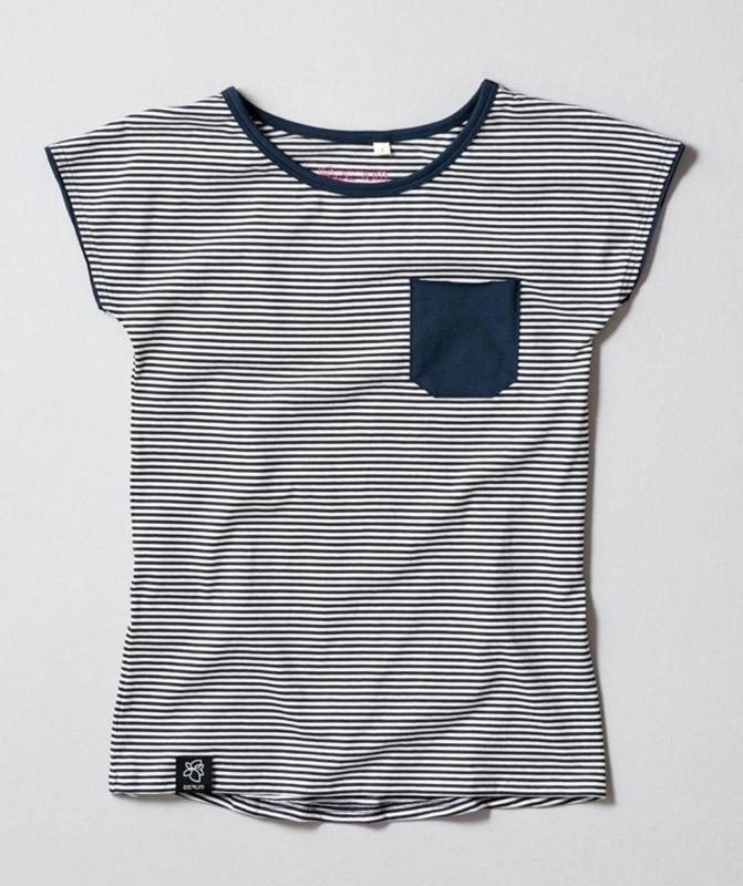 Lea gestreift BIO T-Shirt mit lockerem Rundhalsausschnitt in wunderschöner Streifenoptik
