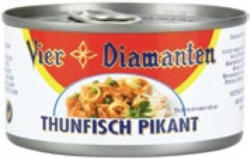 Vier Diamanten Thunfisch mit Gemüse