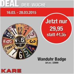 Wanduhr Badge