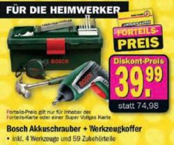 Bosch Akkuschrauber + Werkzeugkoffer