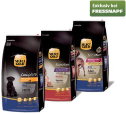 -25% auf alle 12 kg - Packungen für Hunde SELECT GOLD