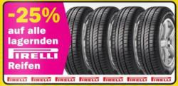 -25% auf alle lagernden Autoreifen von Pirelli