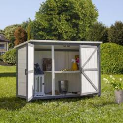 MODERN LIVING Gerätehaus Havannah Grau, Weiß