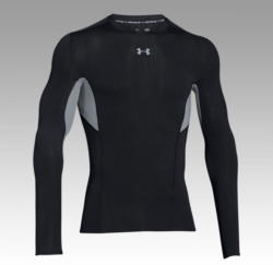 UNDER ARMOUR HG Compression CoolSwitch LS Tee Schwarz/Grau