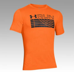 UNDER ARMOUR HG Loose CC RUN Track Graphic Tee Orange