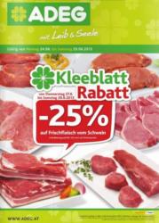 -25% auf Frischfleisch vom Schwein