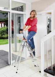 """KRAUSE Stufen-Stehleiter """"Safety"""", Alu"""