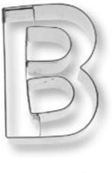 """Birkmann Ausstecher / Ausstechform """"Buchstabe B"""" für Kekse & Plätzchen"""