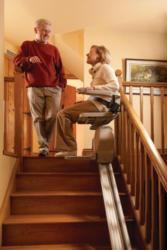 Treppenlift für gerade Stiegen