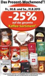 -25% auf das gesamte Kaffeesortiment