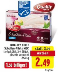 QUALITY FIRST Schollen-Filets MSC