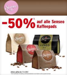 -50% auf alle Senseo Kaffeepads