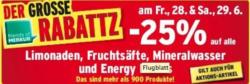 -25% auf Limonaden, Fruchtsäfte, Mineralwasser und Energy Drinks