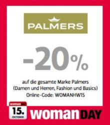 -20% auf die gesamte Marke Palmers (Damen und Herren, Fashion und Basics) Online-Code: WOMANHW15