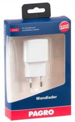 PAGRO Wandlader mit USB-Anschluss weiß